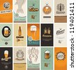 set of business cards on the topic of beer - stock vector
