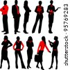Set of business people - stock vector