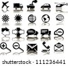 Set of 20 business transportation icons - stock vector