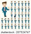 Set of businessman characters poses , eps10 vector format - stock