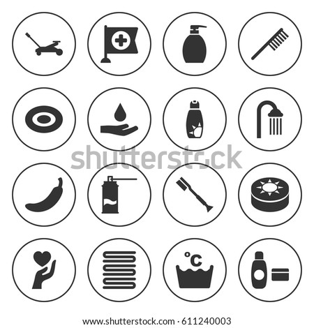 Set 16 Care Filled Icons Such Stock Vector 629787395 - Shutterstock