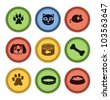 set of cat and dog  icons in retro style - vector illustration - stock vector