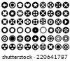 Set of circles - stock
