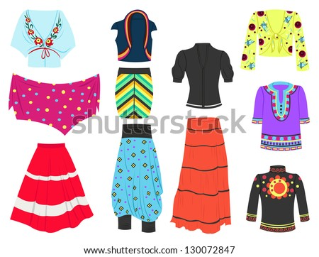 Set of clothing in modern ethnic style