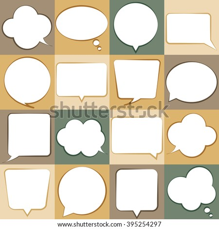 set of cloud thoughts vector