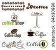 Set of coffee label designs. Vector illustration - stock vector