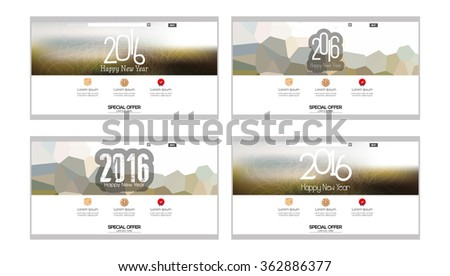 Set Colored Web Templates New Year Stock Vector 387718702 ...