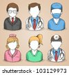 set of colorful people,Vector icons - stock vector