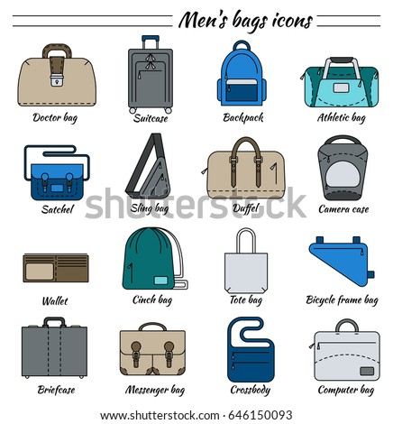 Set 16 Line Icons Different Types Stock Vector 646730260 Shutterstock