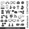 Set of communication icons. - stock vector