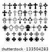 Set of crosses. Vector Eps 10. - stock photo