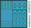 Set of decorative turquoise textures - stock vector