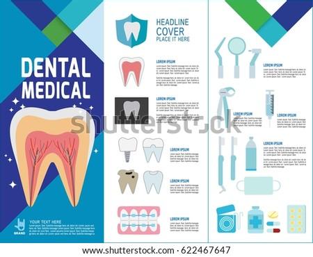 Arab dentist patient dental banner header healthcare for Dental brochure templates