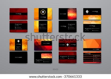business card templates stationery design vector stock vector 486659836 shutterstock. Black Bedroom Furniture Sets. Home Design Ideas