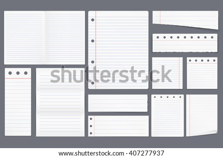 Paper Tape Blank Lined Paper Notes Vector 420970567 – Blank Line Paper