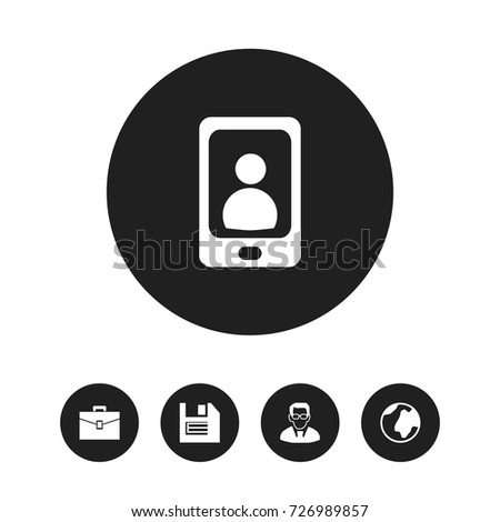 Set 16 Editable Bureau Icons Includes Stock Vector 672279511