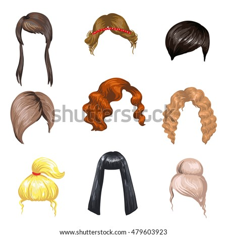 how to make different hair style at home beards mustaches hairstyles set different stock 2685