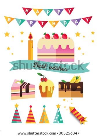 Oxygen 8 S Quot Happy Birthday Quot Set On Shutterstock