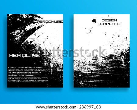 Set Flyer Templates Collection Brochure Design Stock Vector