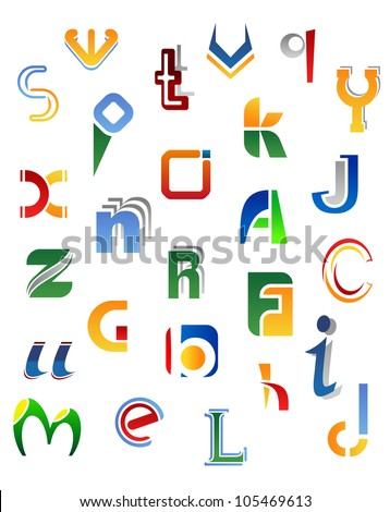 set full alphabet symbols letters such stock vector 102372718 shutterstock