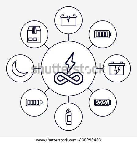 Load Icons Set Set 9 Load Stock Vector 650360923