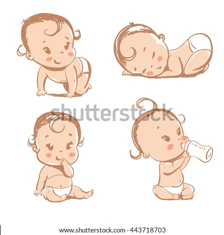 set of funny babies
