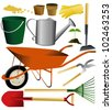 Set of garden tools - stock vector