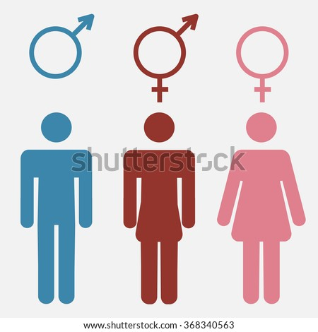 Gender Icons Set Lady Gentleman Restroom Stock Vector 307455464 Shutterstock