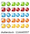 Set of glossy search buttons - stock vector