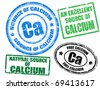 Set of grunge rubber stamps with the text calcium written inside - stock vector