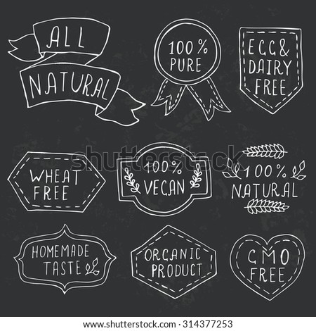 White drawn badges logos stock vector 475992331 shutterstock for Classic house labels
