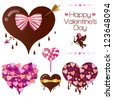 Set of heart candy for Valentine's Day for Valentine's Day. Vector EPS10 file. Gradients, transparency used. - stock vector