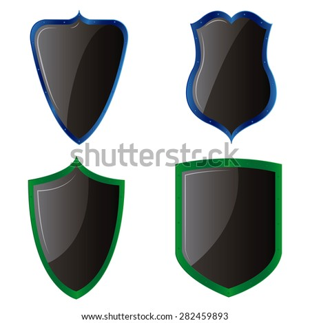 Set of heraldry shields on a white background. Vector illustration