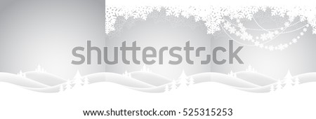Set of holiday christmas backgrounds with winter landscape. Vector illustration