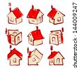 Set of house icons for your design - stock