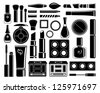 Set of icons cosmetics. vector - stock vector