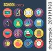 set of icons education.flat style.EPS 10 illustration - stock photo