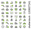 Set of icons for business. A vector illustration - stock vector