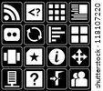 Set of icons (office, work) - stock vector