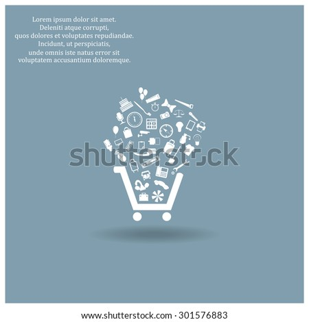 Set Icons Put Into Shopping Cart Stock Vector 310813667 - Shutterstock
