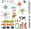 Set of Infographic Elements - stock vector
