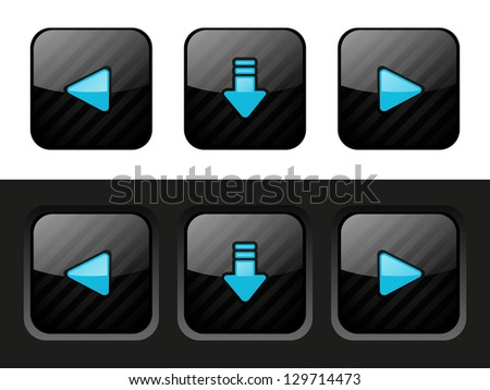 Set of interface web buttons