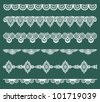 Set of Lace Ribbons - for design and scrapbook - in vector - stock vector