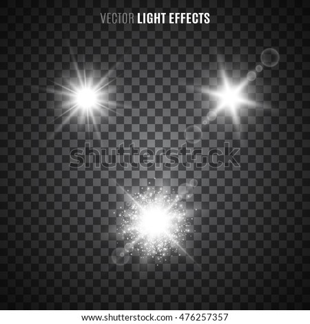 set glowing light effects transparency isolated stock vector 385818523 shutterstock. Black Bedroom Furniture Sets. Home Design Ideas