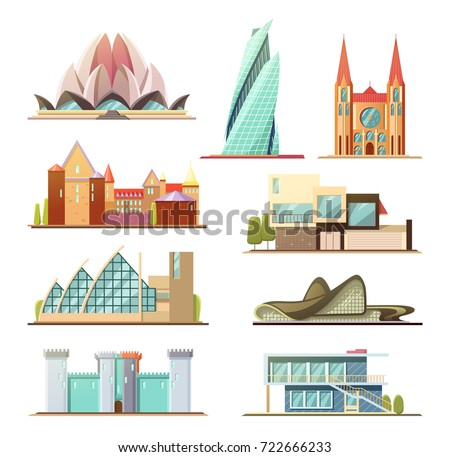 Vector isometric icon infographic element representing for Design your own commercial building
