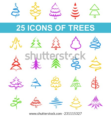 Park Icon Set Trees Forest Bench Stock Vector 330286811