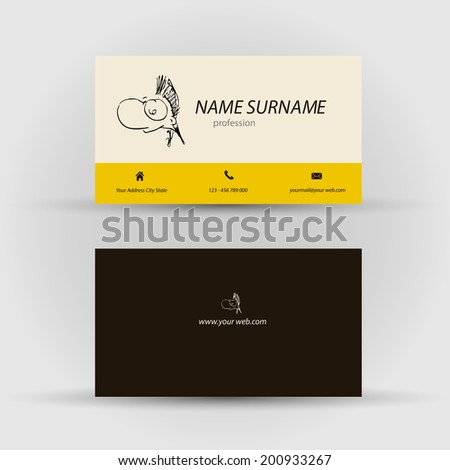 Set modern vector business card template stock vector 200933300 set of modern vector business card template with face front and back side fbccfo Gallery