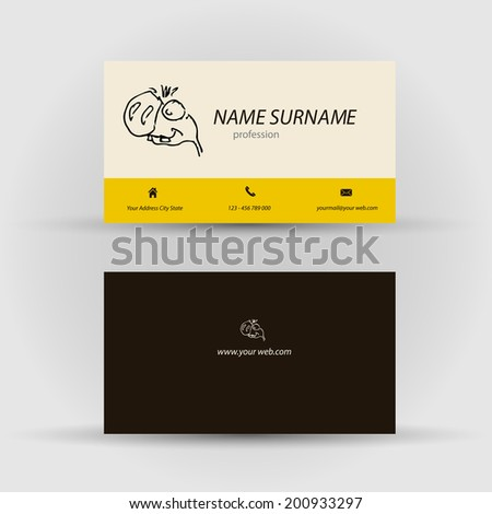 Set Modern Vector Business Card Template Stock Vector - Front and back business card template