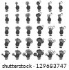 Set of multitouch gestures - stock vector