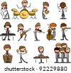 set of Music vector icons - stock vector